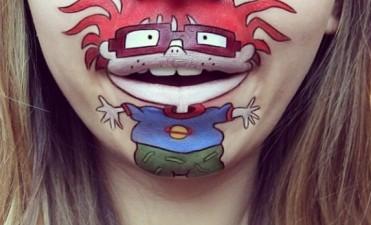 Instagram: Maquilladora recrea dibujos famosos en su boca
