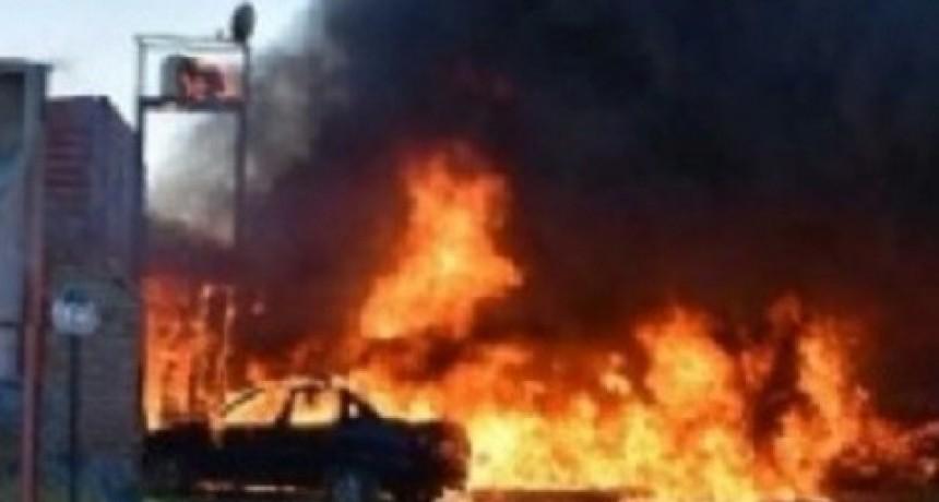 Se incendió una vivienda en Parque América