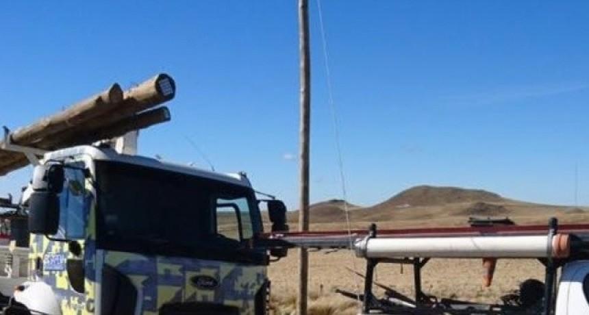 Repararon línea de energía en el cerro Ancasti