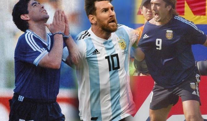Messi llegó al podio