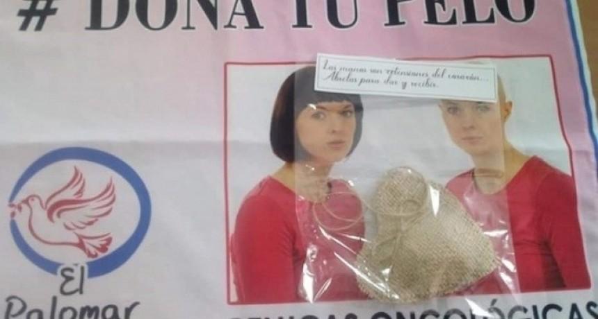 Agrupación El Palomar entrega pelucas oncológicas