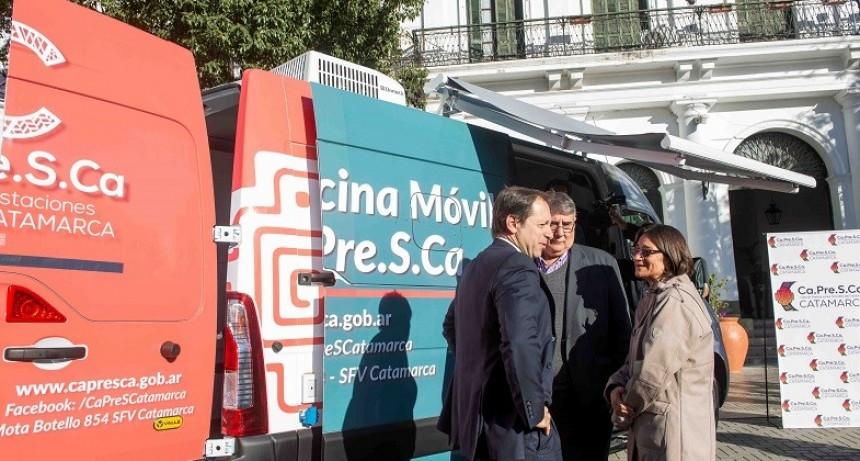 Capresca presentó su unidad móvil itinerante