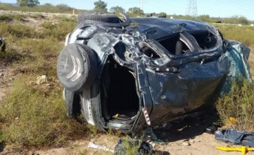 Vuelco sobre la Ruta Nacional 60,Dos heridos