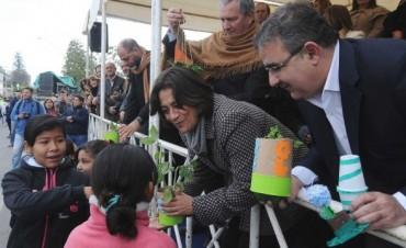Lucía en el acto aniversario 332° de la Ciudad