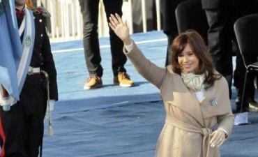La Presidente encabeza hoy un acto junto a Máximo Kirchner en Río Gallegos