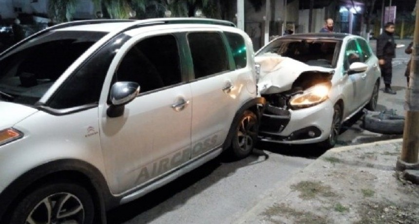 Accidente en la avenida Presidente Castillo