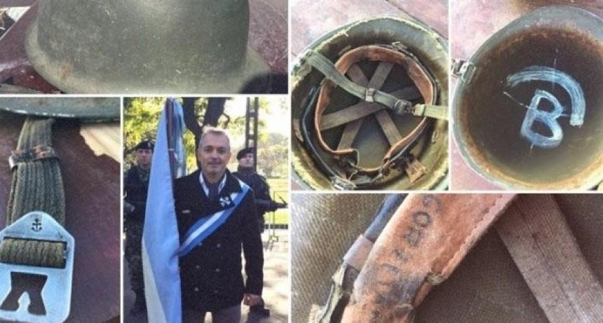Un inglés le devolverá su casco a un veterano de Malvinas
