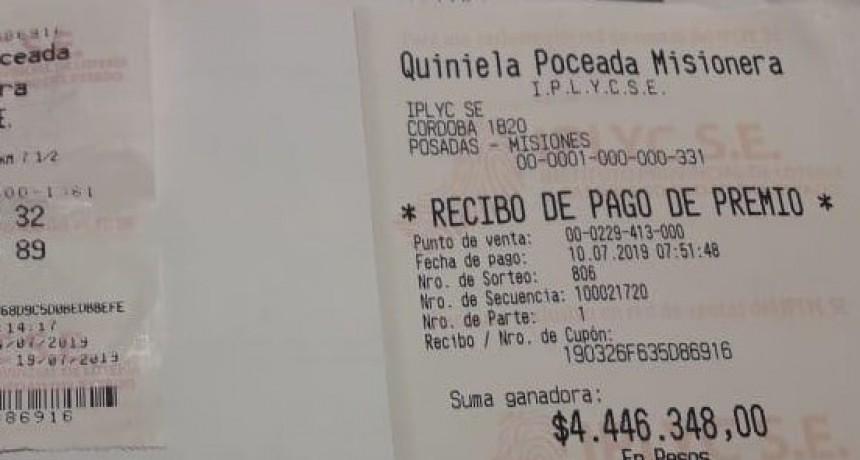 Revolvió la basura y encontró el ticket ganador de la Quiniela