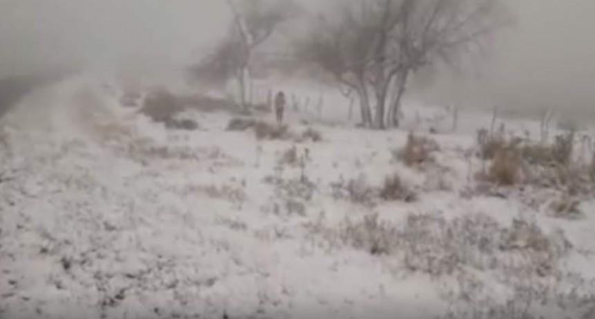 Impresionante nevada en las sierras de Ancasti