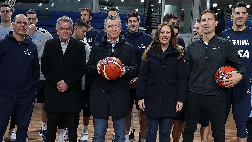 Macri visitó junto a Vidal un centro de alto rendimiento deportivo