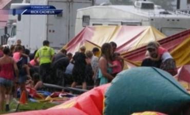 Se derrumbó una carpa de circo y murieron dos personas