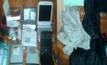 Demoran a dos niños y secuestran elementos robados en Santa María
