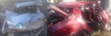 Mueren tres personas en accidentes de transito y 6 heridos
