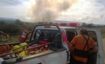 CORDOBA: Incendio  en Athos Pampa, evacuan familias