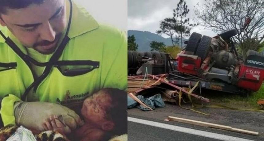 VIDA Y MUERTE: Nació un bebé durante el accidente que le costó la vida a su Madre