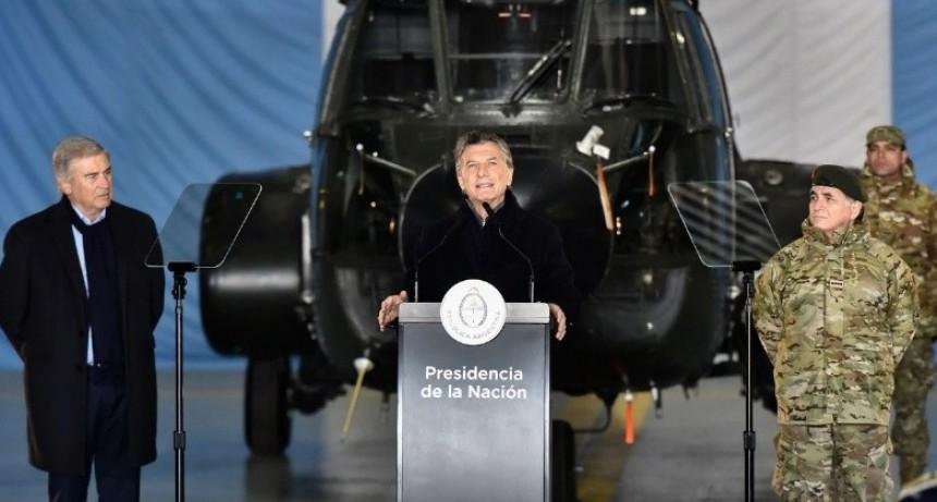 Macri lanza este viernes el despliegue militar