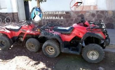 Recuperan dos cuatriciclos robados en La Rioja