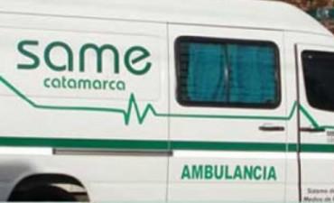 Motociclista chocó con una ambulancia que llevaba un herido