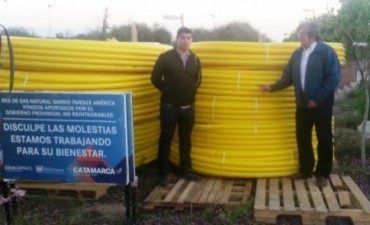 Segunda etapa de la obra de gas natural en Parque América