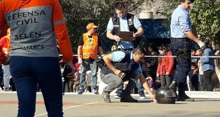 Defensa Civil coordinó simulacro de accidente