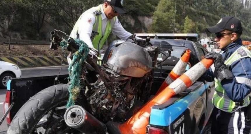 Circulaba en una moto robada y en un control se la quitaron