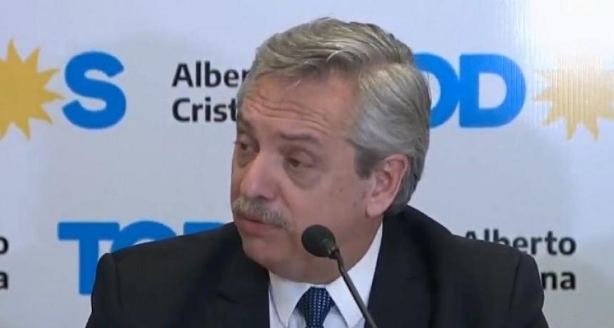 Alberto Fernández pidió serenidad a todos los argentinos