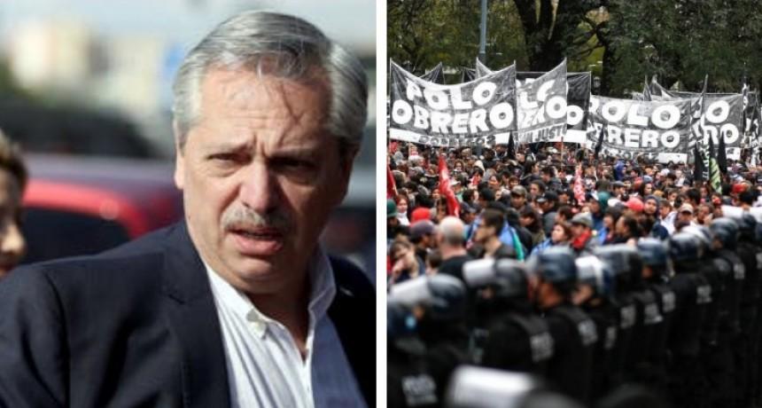Los manifestantes le respondieron a Alberto Fernández: De la calle no nos vamos a ir