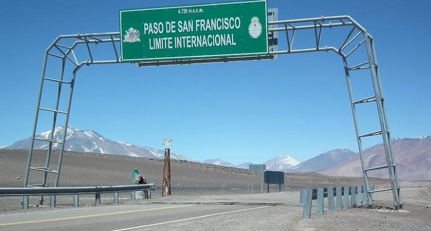 Paso de San Francisco  habilitado para todo tipo de vehículos