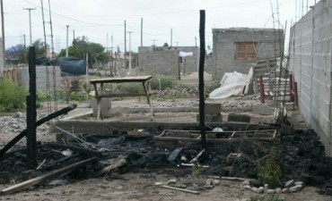 Incendiaron la vivienda de un sospechoso por el asesinato de Apaza
