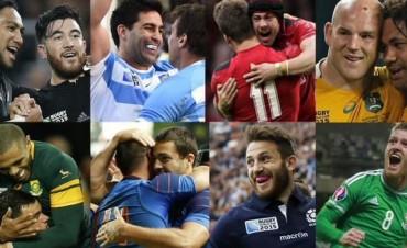 Los ocho clasificados a los cuartos del Mundial de Rugby