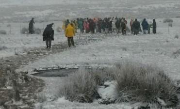 Estudiantes desafiaron a la nieve para una misión solidaria