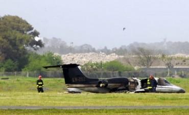 Se incendió un avión de Lázaro Báez cuando iba a despegar