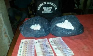 Secuestran más de 8 kilos de cocaína y 1 kilo de marihuana en Valle Viejo