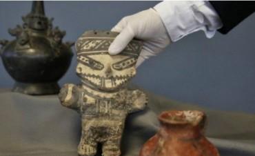 Recuperacion de piezas arqueológicas procedentes de Belén que fueron robadas