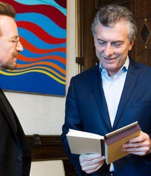 Bono visitó a Macri y le preguntó por Santiago Maldonado