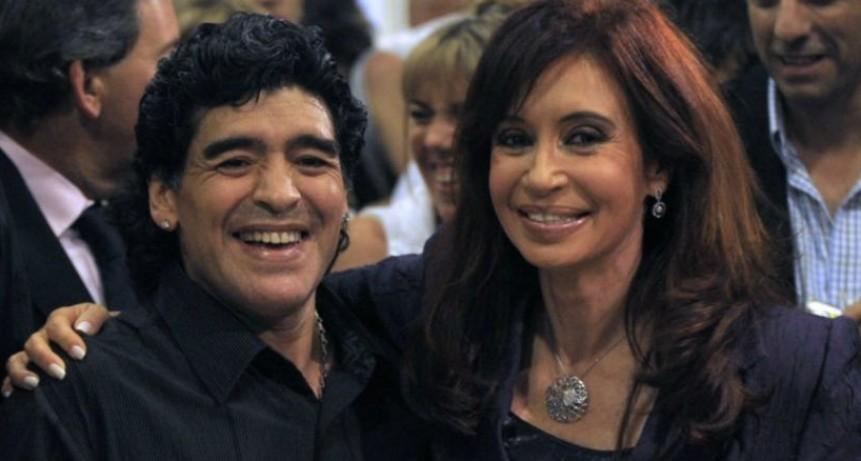 Maradona quiere ser el vicepresidente de Cristina Kirchner