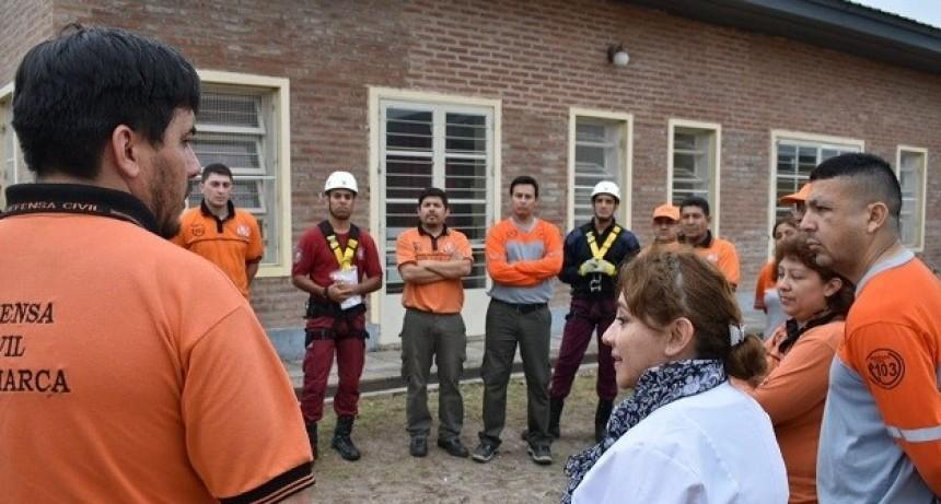 Realizaron simulacro de evacuación en escuela del norte de la Capital