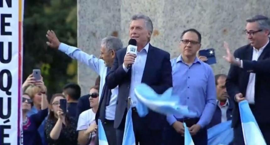 Mauricio Macri en Neuquén: Nos une que le decimos no a la impunidad
