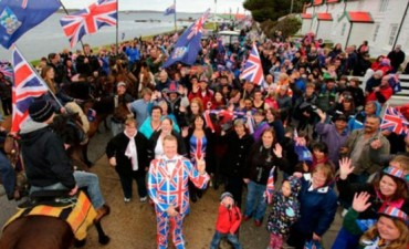 Los isleños de Malvinas saludaron a Mauricio Macri