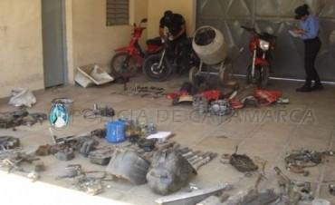 Secuestran motos robadas,en importante operativo