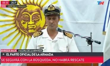La Armada dio por finalizada la etapa de búsqueda de sobrevivientes del ARA San Juan