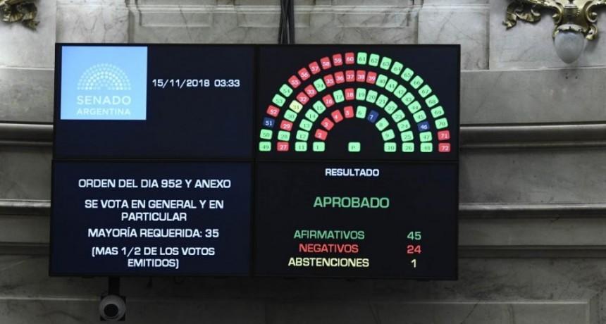 El Senado convirtió en ley el Presupuesto 2019 tras casi 14 horas de debate