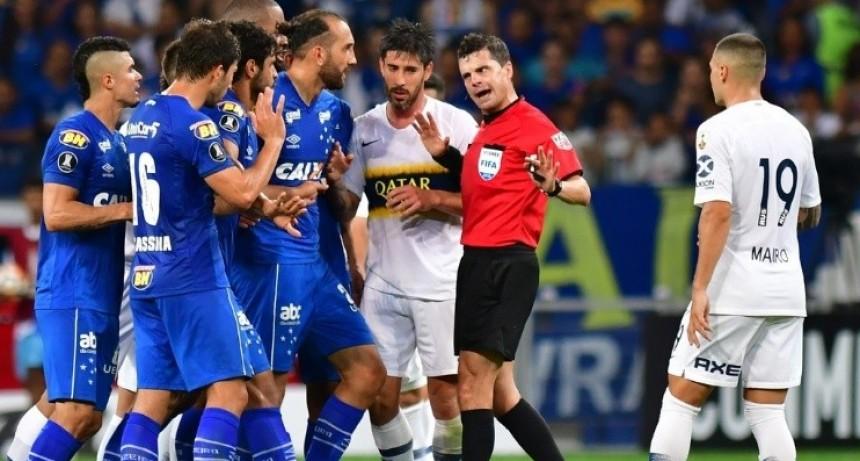 Cunha, el árbitro con el que Boca nunca ganó