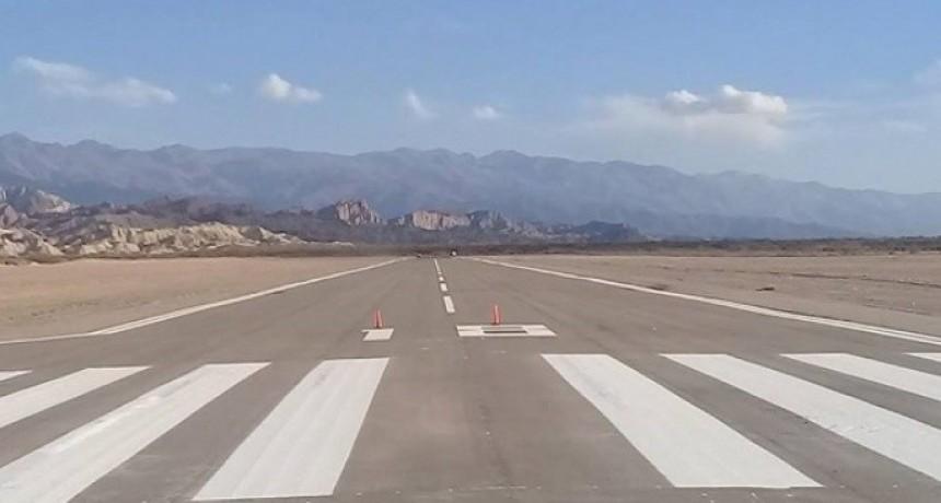 Reinauguración de pista de aterrizaje en Santa María