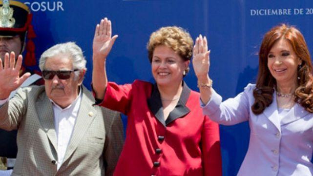 Cristina, Dilma Rousseff y Mujica contra el G20