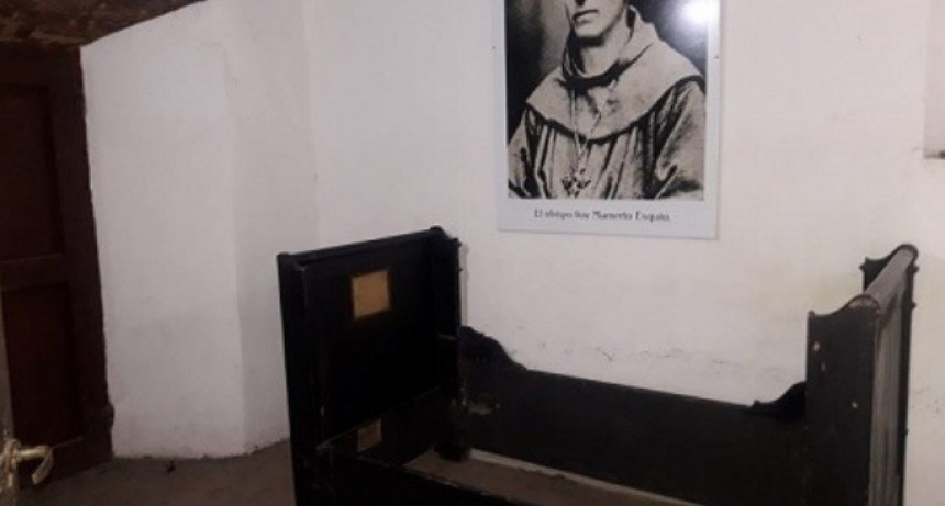 En el Calvario se exhibe la cama que le perteneció a Fray Mamerto Esquiú