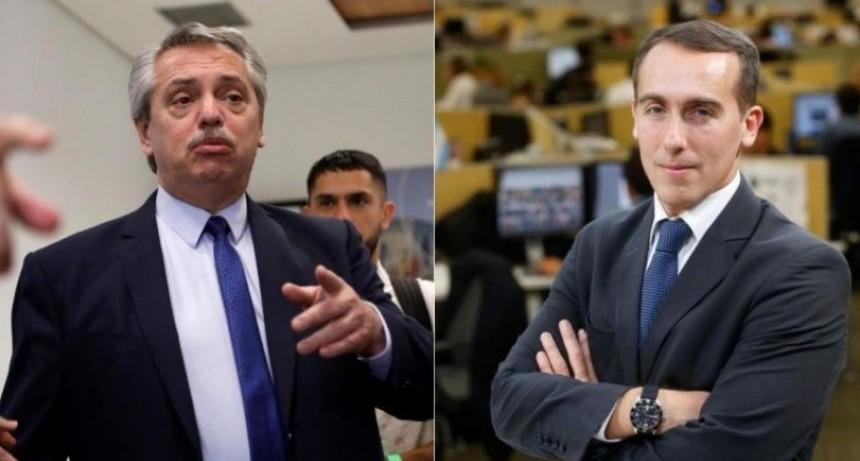 Fernández cruzó a un periodista por atribuirle mover influencias por Báez
