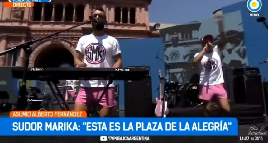 En plena Asunción de Fernández la Banda  La banda Sudor Marika generó polémica por la letra de sus canciones